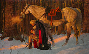 """Prayer at Valley Forge"" courtesy of Friberg Fine Art Company"